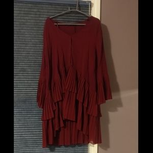 Zara maroon high low dress